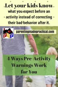 Pre-Activity Warning